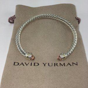 David Yurman 5mm Morganite and 14k Gold Bracelet